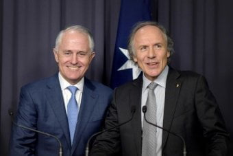 PM Turnbull and Chief Government Scientist Alan Finkel