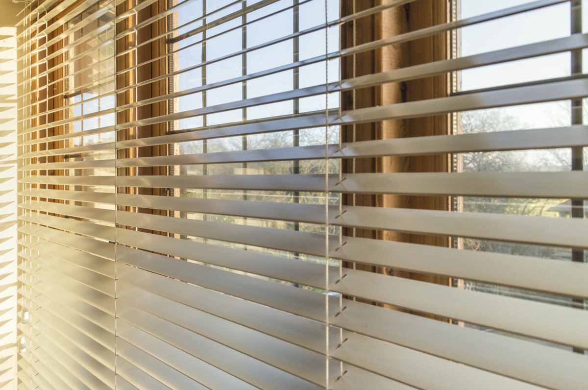 Window blinds can block the sun and cool a room