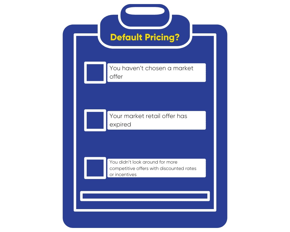How do I know if I'm on default pricing