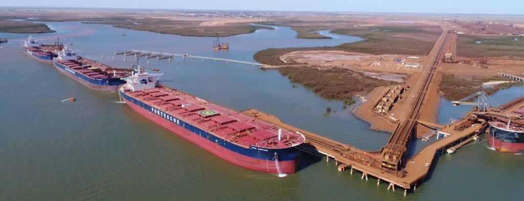 Fortescue Transport Ships docked at port