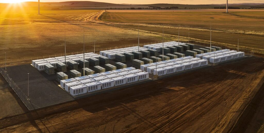 a battery storage facility