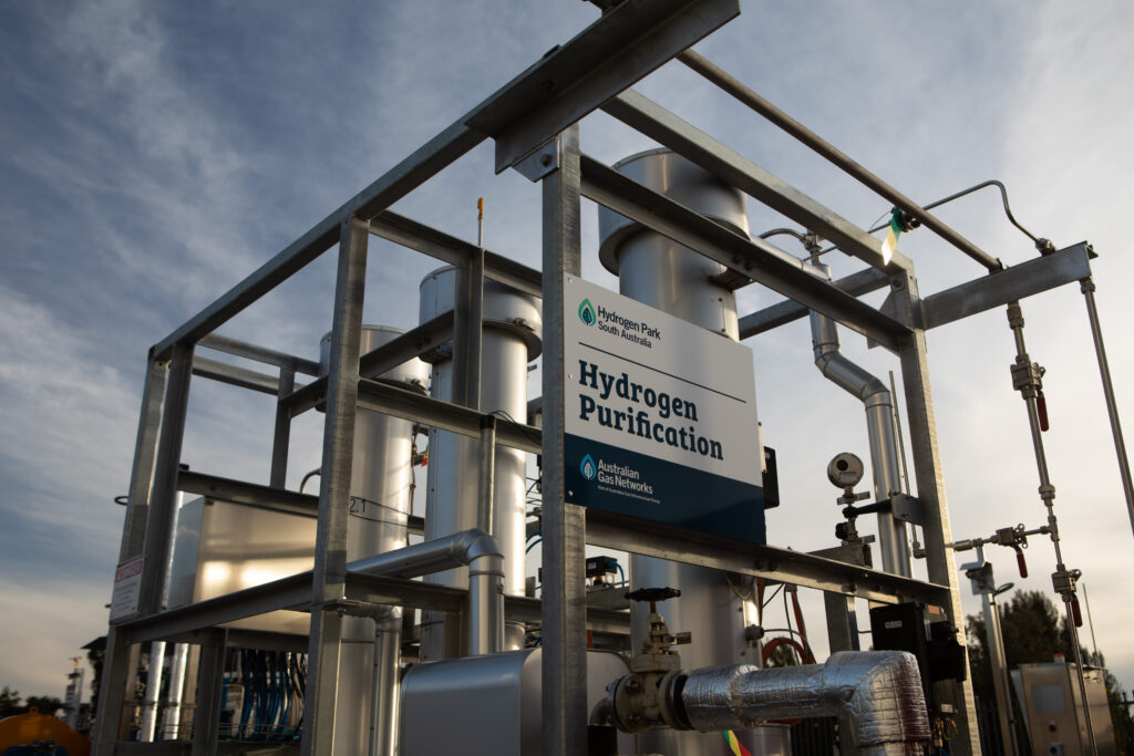 Hydrogen Park South Australia pipes to carry greeen hydrogen gas to homes
