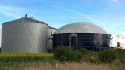 biogas refining plant