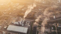 Scope emissions from a factory plant